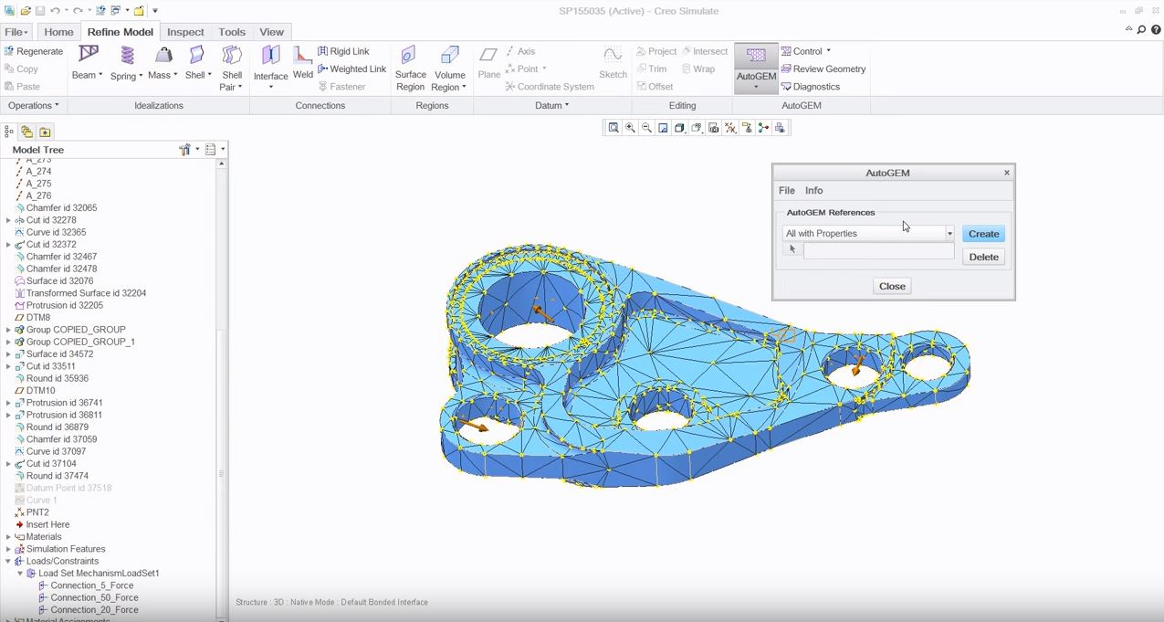 Creo Simulate: Creo Simulate: structural simulation software for optimizing structural designs on computer