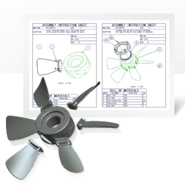 ptc creo elements assembly instruction sheet