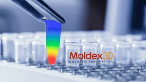 moldex 3d logo and design of a testtube