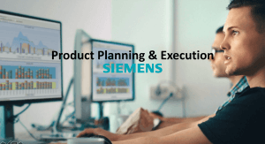Product planning & execution Siemens